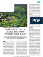 Study Role of Climate Change in Extreme Threats to Water Quality