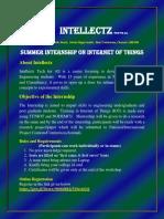 summer internship on iot intellectz11