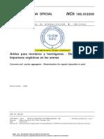 NCh 166 2009 Áridos Para Morteros y Hormigones - Determinación e Impurezas Orgánicas en Las Arenas