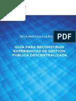 Pub Prodes Guia Reconstruir Experiencias Gestion Publica Descentralizada