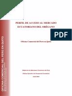 OREGANO Perfil de Mercado QT