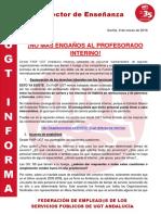 UGT Informa 5 Interinos