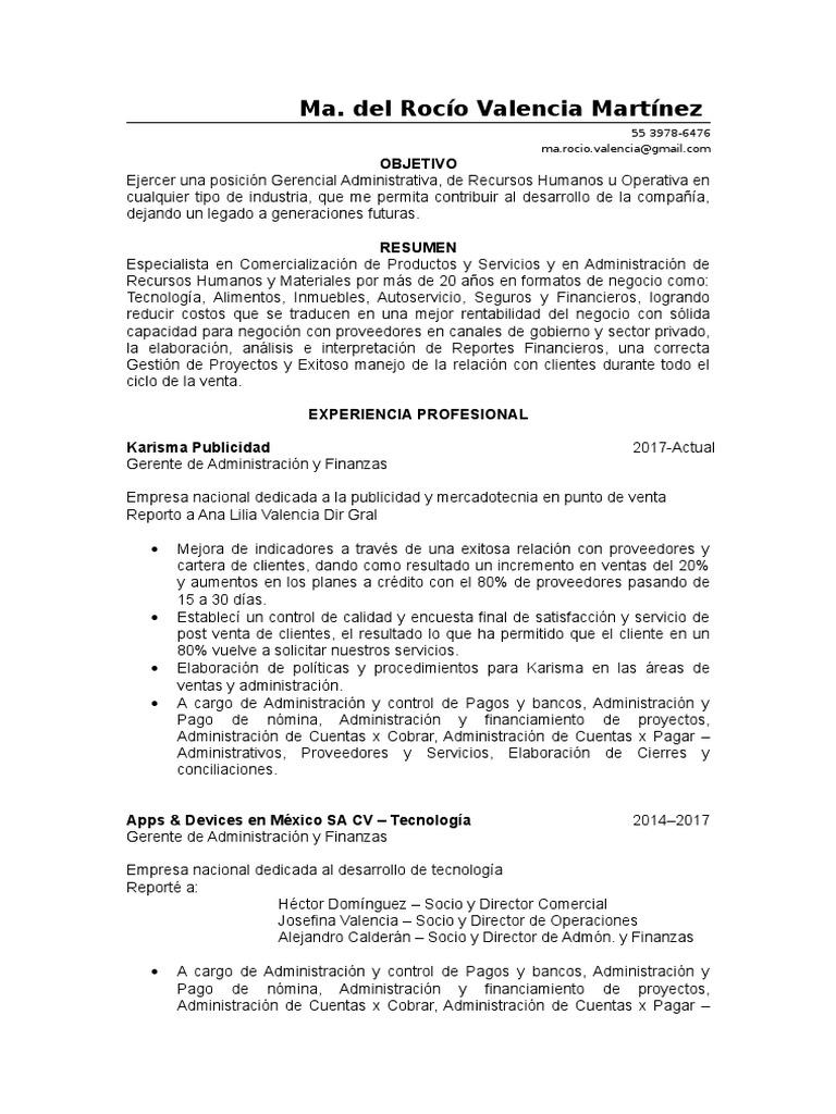Magnífico Gerente De Administración Resume Doc Motivo - Ejemplo De ...
