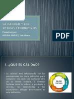 La Calidad y Los Sitemas Productivos