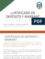 Derecho Comercial II-certificado de Deposito y Warrant