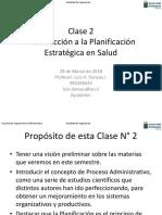 Clase 2 Intro. Planif. Estrat. Salud 2018