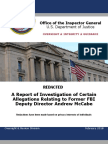 DOJ IG releases explosive report that led to firing of ex-FBI Deputy Director Andrew McCabe
