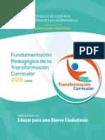 I. Transformación Curricular Educar Para Una Nueva Ciudadanía, Versión Final