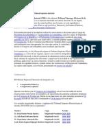 Organización y Función Del Tribunal Supremo Electoral