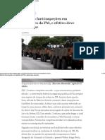 Exército Fará Inspeções Em Batalhões Da PM, e Efetivo Deve Aumentar