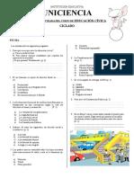 Prueba de Entrada de Civica - CICLADO- UNICIENCIA
