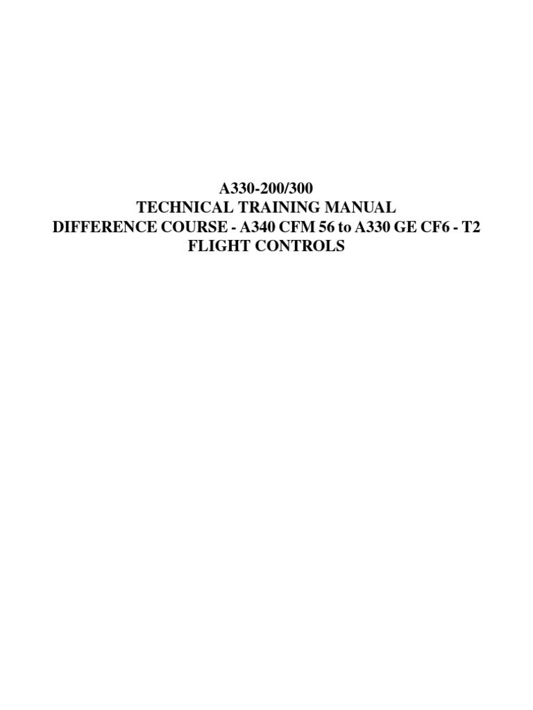 a330 200 flight controls aircraft flight control system aircraft rh scribd com airbus a330 training manual Airbus A330- 200 Seating