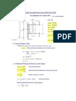 Mathcad - Diseño de Conexion Corte Columna-Viga Placa Simple