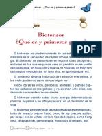 Como se usa el biotensor - Guía rápida