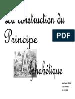 Construction Du Principe Alphabetique