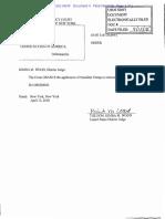 Cohen v United States Order Granting Trump Intervention
