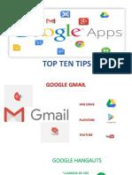 Top Ten Tips Google Apps