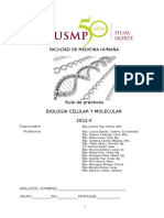 Guia de Practicas de Biologia Celular y Molecular 2012 Medicina USMP Filial Norte