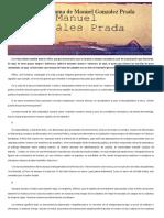 Discurso Del Politeama de Manuel Gonzalez Prada