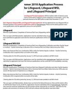 Lifeguard WSI Application Process