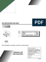 JVC CD RECEIVER KD-S587