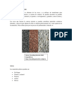 MATERIALES PÉTREOS y Depositos Aluviales