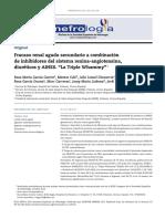 Fracaso Renal Agudo Secundario a Combinación de Inhibidores Del Sistema Renina-Angiotensina, Diuréticos y AINES.