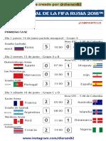fixture - Copa Mundial de la FIFA Rusia 2018™