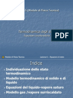Ft5 - Termodinamica Degli Stati - Modelli Liquido, Vopore, Gas (2 Lezioni)