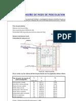 Dimensionamiento de Pozo Percolador - Villa Lopez