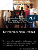 Entrepreneruship & Value Chain English Version