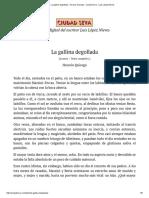 La Gallina Degollada - Horacio Quiroga - Ciudad Seva - Luis López Nieves (1)