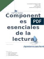 Los Componentes y Fundamentos Esenciales de La Lectura [41772]
