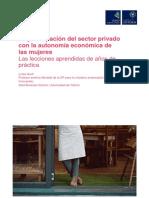 La Participación Del Sector Privado Con La Autonomía Económica de Las Mujeres