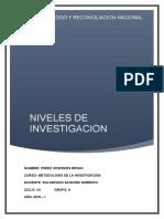 97318021 Tipos y Niveles de Investigacion Cientifica