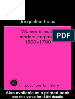 Jacqueline Eales - Women in Early Modern England, 1500-1700