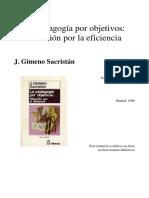 Gimeno Sacristan Pedagogia por objetivos, Cap 5.pdf
