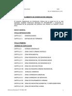Reglamento Plan Director Urbano