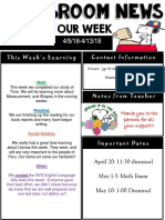 weekly newsletter  powerpoint  april 13