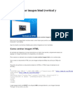 Como Centrar Imagen HTML