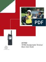 Walkie Motorola Tetra MTP850S Manual