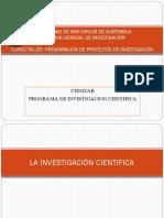 Presentación de la investigación científica