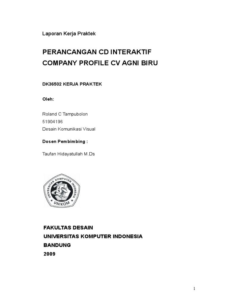 Contoh Laporan Kerja Praktek Teknik Informatika Unikom Kumpulan Contoh Laporan
