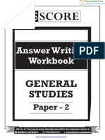 GS 2 Answer Writing Workbook 2017 - GS Score
