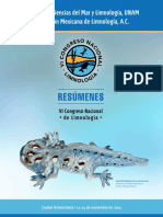 Resumenes VI Congreso Nacional de Limnologia