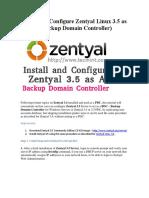 Backup Zentyal