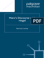 Norman Levine (Auth.)-Marx's Discourse With Hegel-Palgrave Macmillan UK (2012)