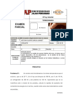 Examen Parcial Ing Industrial Termodinamica