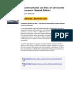 Encuentros Diarios Con Dios Un Devocional Sobrenatural Spanish Edition by Guillermo Maldonado b01lyqyqgr