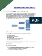 Regímenes de Aseguramiento en El IMSS